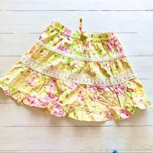 Lilly Pulitzer Girl's Floral Skirt Size 5